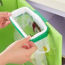 porte sac poubelle cuisine honana plastique suspendu poubelle sac à ordures support armoire de
