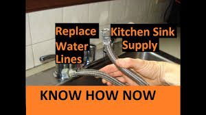 Replace Kitchen Sink Water Supply Lines YouTube - Kitchen sink water supply lines