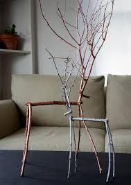 how to make easy diy metallic twig reindeer holidays craft and
