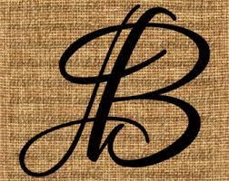 Monogram Letter B All 26 Letters Of Alphabet Calligraphy Bundle Monogram