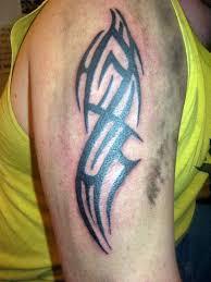tribal tattoos for men on upper arm cool tattoos bonbaden