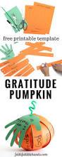 thanksgiving gratitude pumpkin kids paper craft with free template