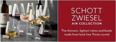 sur la table wine glasses schott zwiesel schott zweisel air collection sur la table