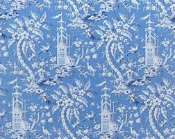 chinoiserie wrapping paper orange chinoiserie etsy