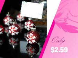 snowflake ornament place card holder favor