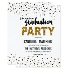 grad party invitations yourweek org ec 428ab gold glitter polka dot gradu