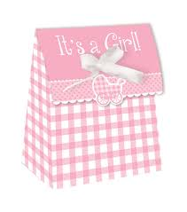 small favor bags 72 it s a girl pink gingham baby shower small favor bags with