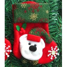 christmas gift ornament socks bags santa claus elk snowman pattern