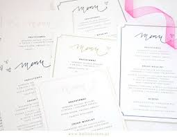 diy wedding menu cards best diy wedding menu template photos styles ideas 2018