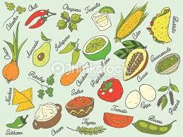 illustration cuisine cuisine food ingredients set vector pattern isolated