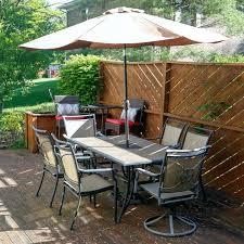 Granite Patio Tables Patio Ideas Darlee Sedona 8 Person Patio Dining Set Mocha Brown