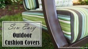 How To Make A Picnic Table Bench Cover by Sew Easy Outdoor Cushion Covers Part 1 Confessions Of A Serial