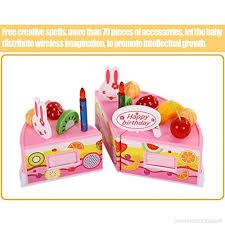 jeux de cuisine de gateaux d anniversaire jeux d imitation cuisine diy gâteau d anniversaire set de 75 pcs