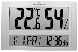 Patio Clock And Thermometer Sets by Marathon Watch Company Jumbo Indoor Digital Humidity Monitor