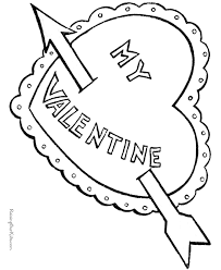 coloring pages of heart printable valentine coloring pages of hearts 006