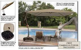 Cantilever Patio Umbrella With Base Seabrooke 10 Square Cantilever Umbrella With Base