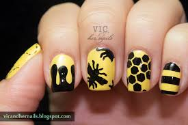 bee nail art image collections nail art designs
