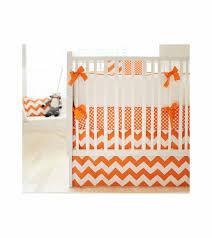 Zig Zag Crib Bedding Set New Arrivals Zig Zag Tangerine 4 Piece Baby Crib Bedding Set