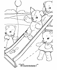teddy bear coloring pages free printable baby bears playing