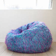 large shaggy fur beanbag cover blue pink cloud chair soft bean bag
