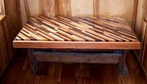 diagonal table from wood scraps what a cool way to recycle wood