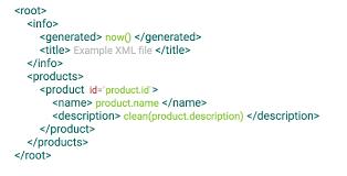 xml templates datakick