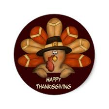 happy thanksgiving stickers zazzle