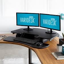 Standing Corner Desk Cubicle Standing Desks Varidesk Height Adjustable Desk