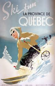 winter travel poster for quebec canada 1944 w i n t e r
