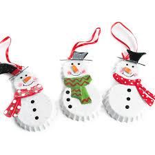 bottle cap snowman ornament ornaments and