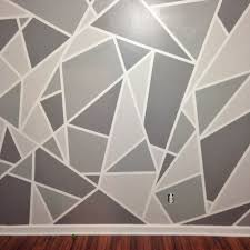 Wall Painting Patterns by Project Nursery V 1 A Geometric Mosaic Wall In Grey Ombre