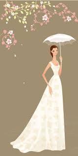 bridal card illustration wedding card vector