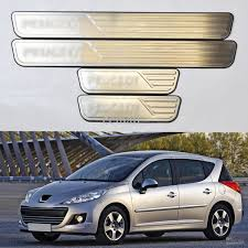 peugeot 2 door 2017 stainless door scuff plates sill protector guard oem for