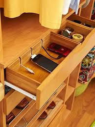 Charging Station Shelf Spring Cleaning Tips Decluttering Countertops With Hidden