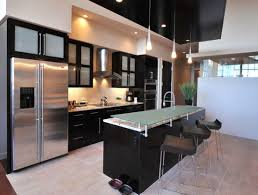 Kitchens  Modern Black Kitchen Cabinet With Frosted Glass Door - Kitchen cabinets with frosted glass doors