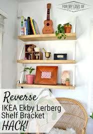 Ikea Wall Bookshelf Remodelaholic Diy Wall Shelf Reverse Ikea Ekby Lerberg Bracket