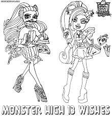 monster high 13 wishes coloring pages coloring pages to download