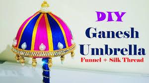 ganesh umbrella diy from funnel u0026 silk thread youtube