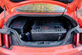 mustang trunk space 2015 ford mustang ecoboost premium stallion automobile