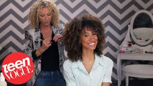 lorraine massey haircut 3 steps to the perfect curly cut 3 steps to teen vogue youtube