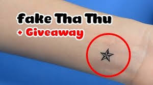 cách vẽ xăm giả bằng bút bi kim cương how to make fake tattoo