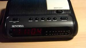 clock radio with night light sentry clock radio with night light youtube