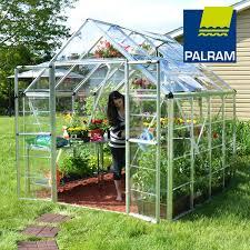 Greenhouse Palram Palram Snap U0026 Grow 8 U0027 Series Hobby Greenhouse 8 U0027 X 8 U0027 Silver