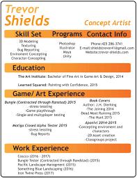 Skill Set Resume Resume U2014 Trevor W Shields