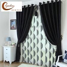 Black Curtains Bedroom Byetee Black Customized Blackout Curtains For Living Room