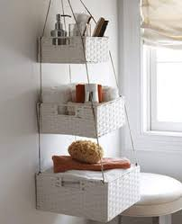 Wicker Basket Bathroom Storage Creative White Hanging Wicker Basket Shelves For Bathroom Storage