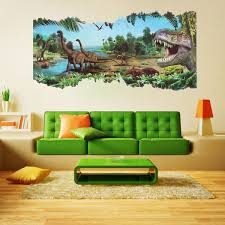 3d jurassic world park dinosaur wall sticker kids room decal mural