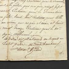 Antique Writing Paper Antique France French Document Contract Marriage With Stamp