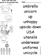letter u alphabet activities at enchantedlearning