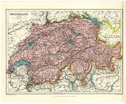 Map Of Europe 1920 by 1920 Antique Vintage Map Switzerland Europe By John Bartholomew